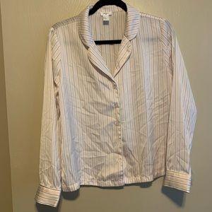 Forever 21 Satin Striped Pajama Set